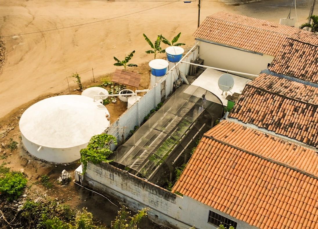 Cisterna Escolar 52 mil litros com bioágua e horta
